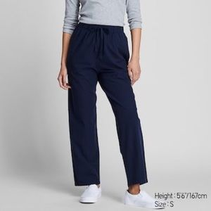 Uniqlo Women Cotton Relax Ankle-Length Pants